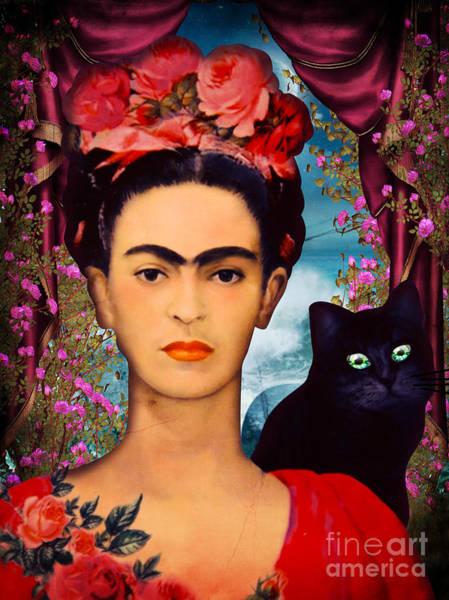 Wall Art - Pyrography - Frida Kahlo by Mark Ashkenazi