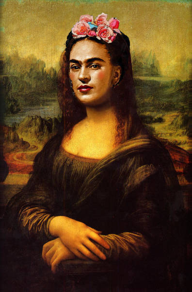 Painting - Frida Kahlo Mona Lisa by Tony Rubino