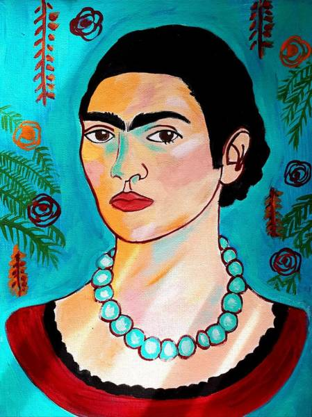 Painting - Frida Kahlo by Nikki Dalton
