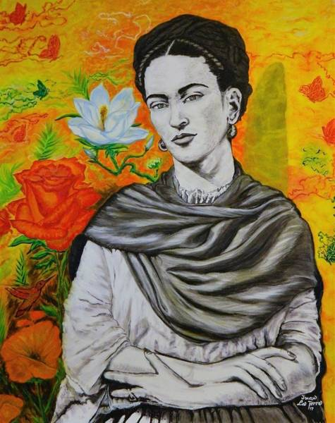 Tacoma Painting - Frida Kahlo Surreal by Juan La Torre