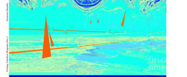 Organic Abstraction Mixed Media - Friday Harbor Regatta No.2 by Zsanan Studio