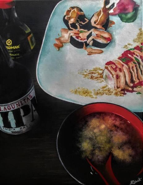 Painting - Friday Night Sushi - Painting by Ashley Koebrick Schmidt
