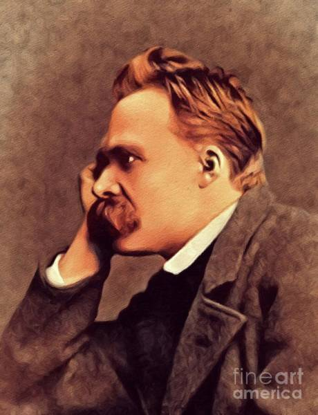Wall Art - Painting - Friedrich Nietzsche, Philosopher by John Springfield