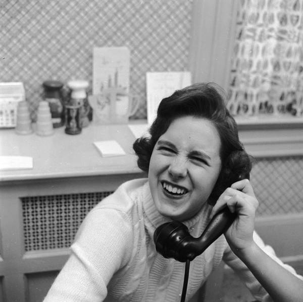 Laughing Photograph - Friendly Phonecall by Vecchio