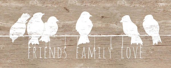 Wire Mixed Media - Friends, Family, Love by Patricia Pinto