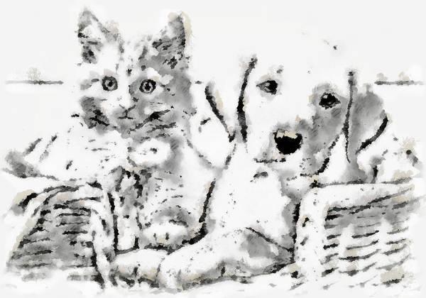 Digital Art - Friends Fpr Life by Mario Carini