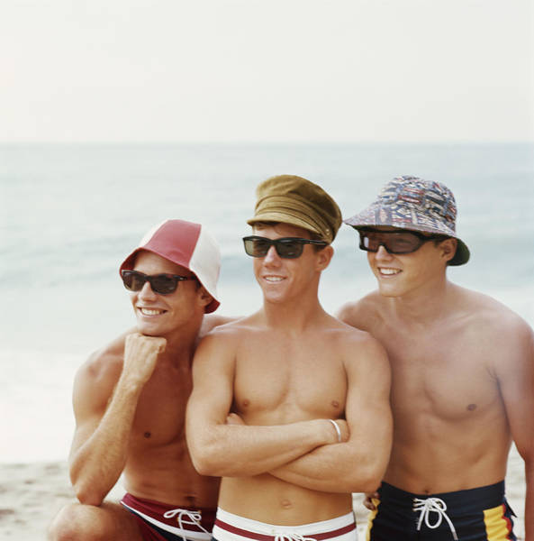 Sun Hat Photograph - Friends Having Fun Beach, Smiling by Tom Kelley Archive
