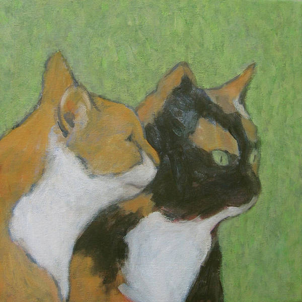 Painting - Friends by Kazumi Whitemoon