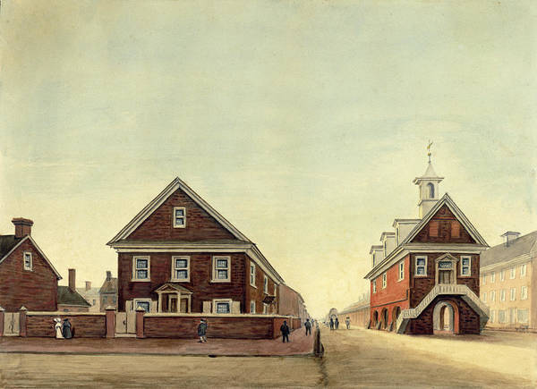 Drawing - Friends Meeting House And Old Courthouse by William Breton