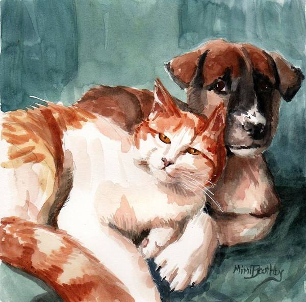 Painting - Friends by Mimi Boothby