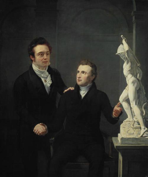 Painting - Friendship Portrait by Jan Willem Pieneman