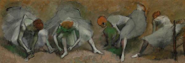 Wall Art - Painting - Frieze Of Dancers, 1895 by Edgar Degas