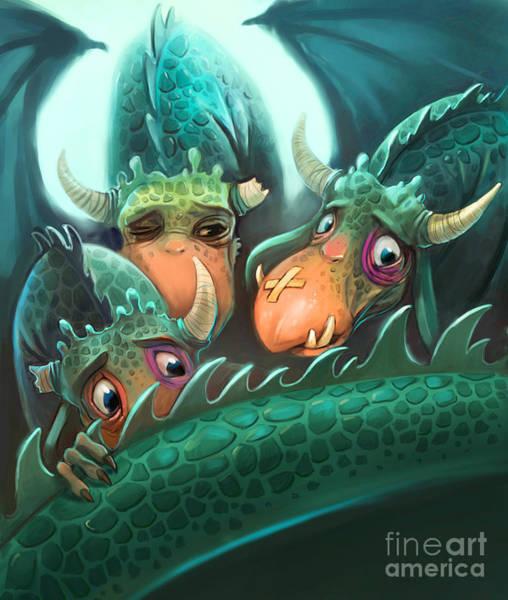 Wall Art - Digital Art - Frightened Fabulous Monster by Annanenasheva
