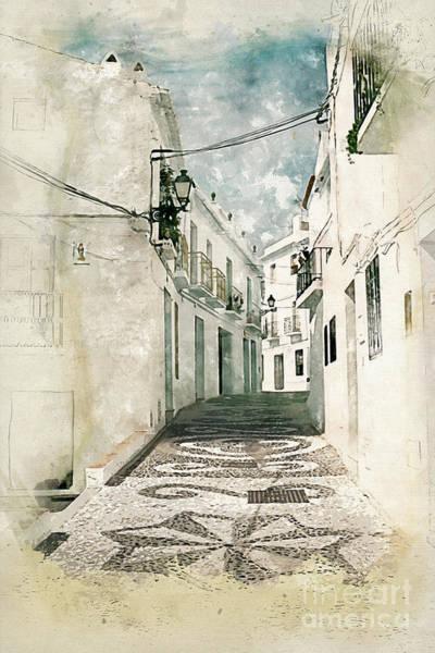 Wall Art - Painting - Frigliana  by John Edwards