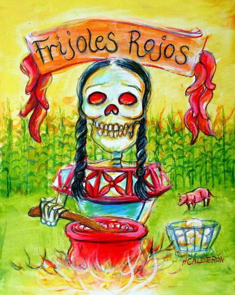 Wall Art - Painting - Frijoles Rojos by Heather Calderon