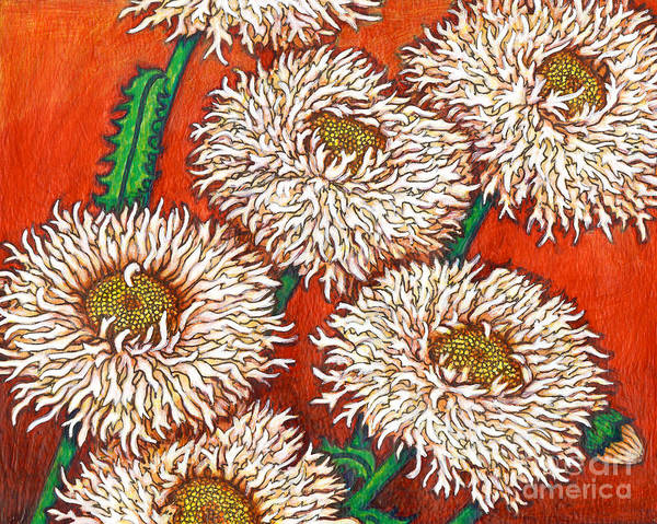 Painting - Fringed Shasta Daisies by Amy E Fraser