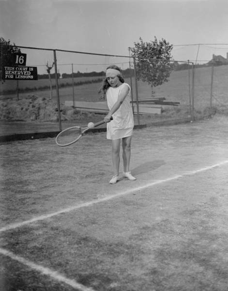 1923 Photograph - Frinton Tennis by W G Phillips