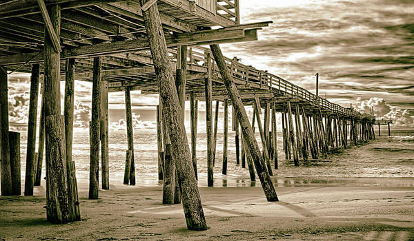 Wall Art - Photograph - Frisco Pier Outer Banks Gone Forever Bw by Dan Carmichael