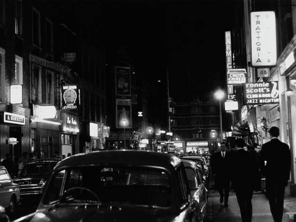 Night Photograph - Frith Street By Night by Ray Roberts