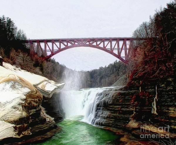 Photograph - Frletchworth Railroad And Falls by Jim Lepard