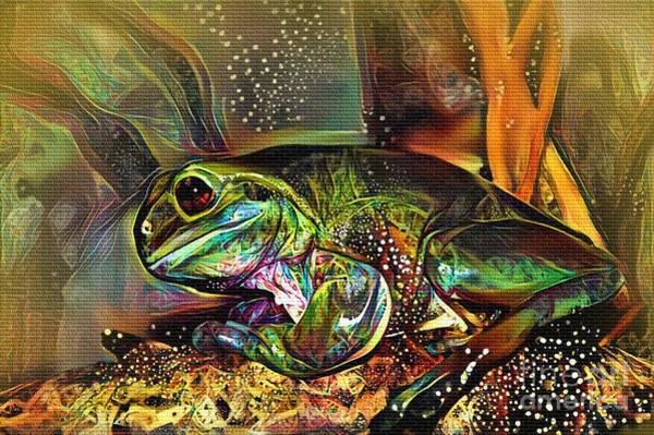 Wall Art - Digital Art - Frog Art By Kaye Menner by Kaye Menner