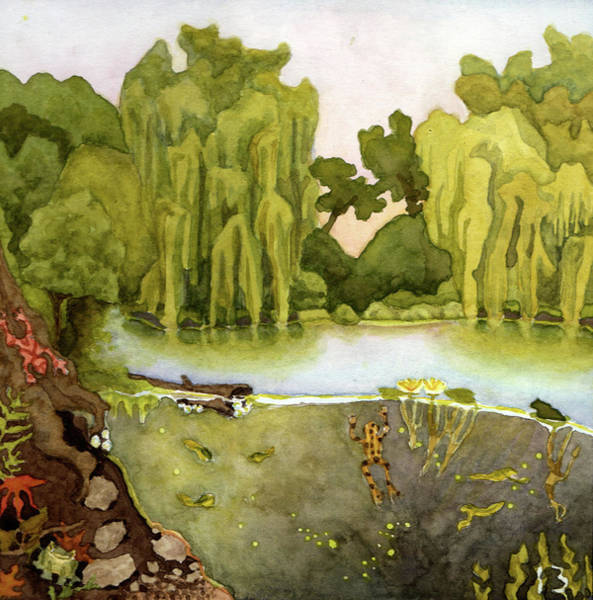 Tree Painting - Frogs by Alice Ann Barnes