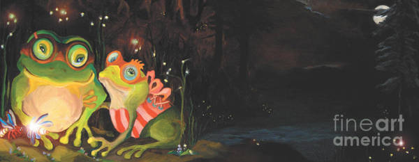 Painting - Frogs Of Silver Lake by Donna Hall