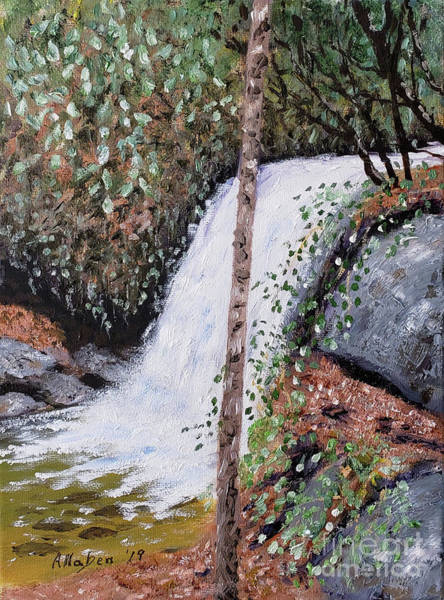 Painting - Frolictown Falls by Stanton Allaben