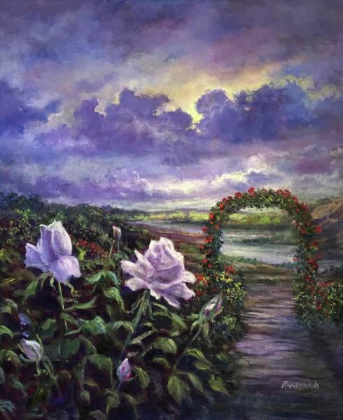 Painting - From A Veil Of Mist, Light And Lavender Blue by Randy Burns