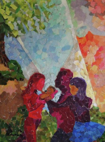 Wall Art - Mixed Media - From Family Comes The Light by Jamartineau