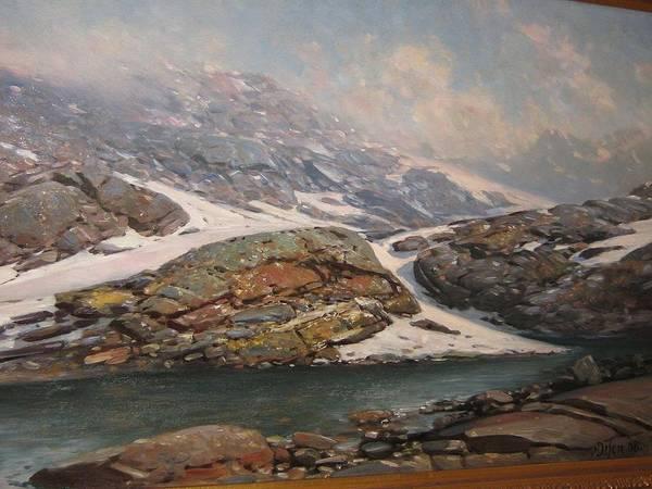Wall Art - Painting - From Jotunheimen  Melkedalen  by Andreas Edvard Disen