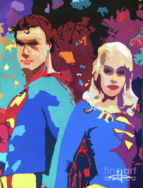 Wall Art - Painting - From Krypton With Love by Kelly Hartman