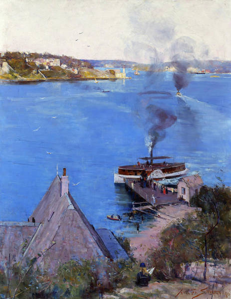 Wall Art - Painting - From Mcmahon's Point, Fare One Penny - Digital Remastered Edition by Arthur Streeton