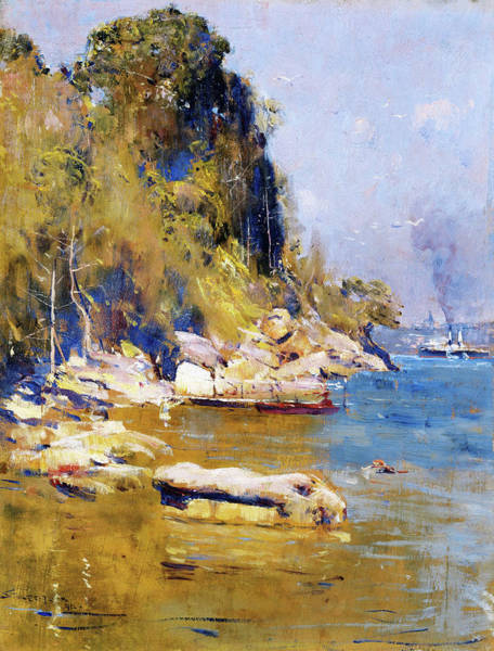 Wall Art - Painting - From My Camp, Sirius Cove - Digital Remastered Edition by Arthur Streeton