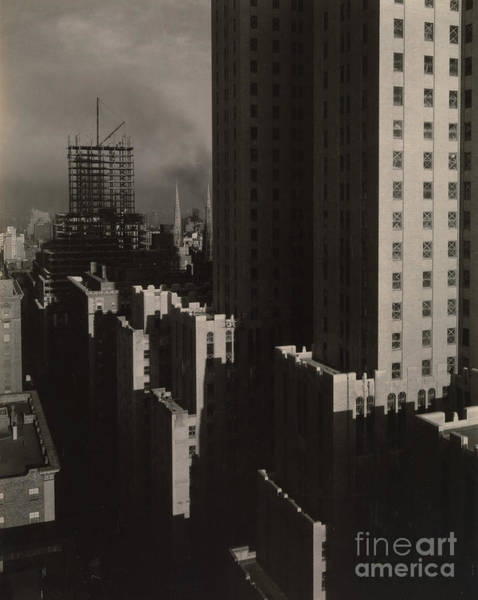 Wall Art - Photograph - From My Window At The Shelton, West, 1931  by Alfred Stieglitz