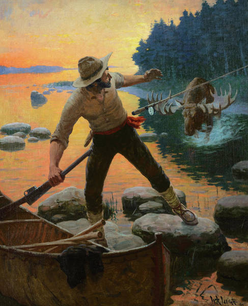 Wall Art - Painting - From Rod To Rifle, 1911 by William Robinson Leigh