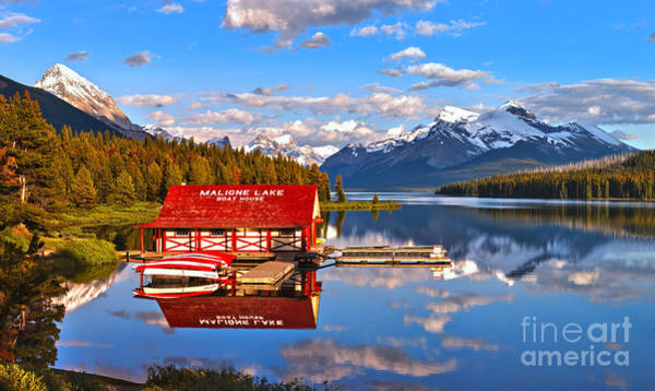 Photograph - From The Shore To The Peaks At Maligne Lake by Adam Jewell