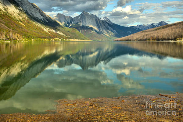 Photograph - From The Shore To The Peaks At Medicine Lake by Adam Jewell