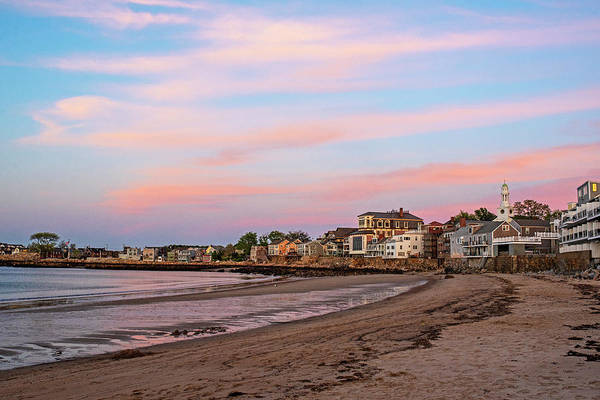 Photograph - Front Beach Rockport Ma At Sunser Red Clouds Streaking by Toby McGuire