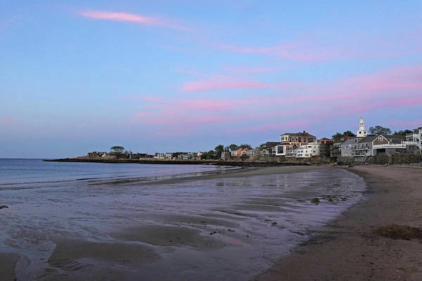 Photograph - Front Beach Rockport Ma At Sunser Red Clouds by Toby McGuire