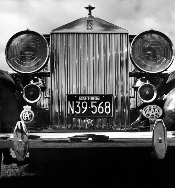 Canada Photograph - Front Grill Of A Vintage Rolls-royce by Walker Evans