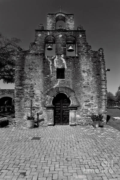 Photograph - Front Of Mission Espada San Antonio Texas by Blake Richards