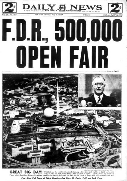 Front Page Photograph - Front Page Of The Daily News Dated May by New York Daily News Archive