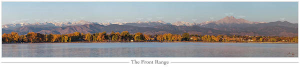 Mounted Photograph - Front Range With Peak Labels by Aaron Spong