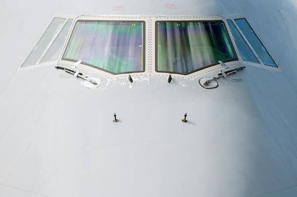 Wall Art - Photograph - Front Section Of 747 Passenger Plane by Jason Hosking