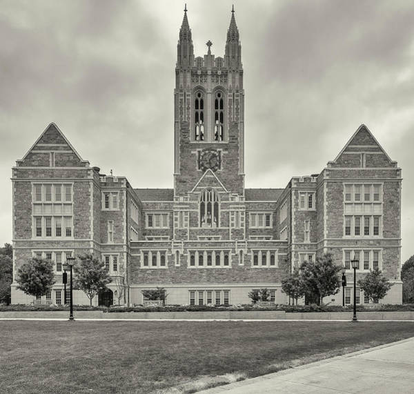 Chestnut Hill Photograph - Front View Of Gasson Hall Building by Panoramic Images