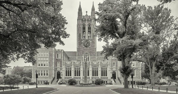 Chestnut Hill Photograph - Front View Of Gasson Hall, Chestnut by Panoramic Images