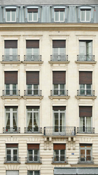 Apartments Photograph - Front View Of Paris Architecture by S. Greg Panosian