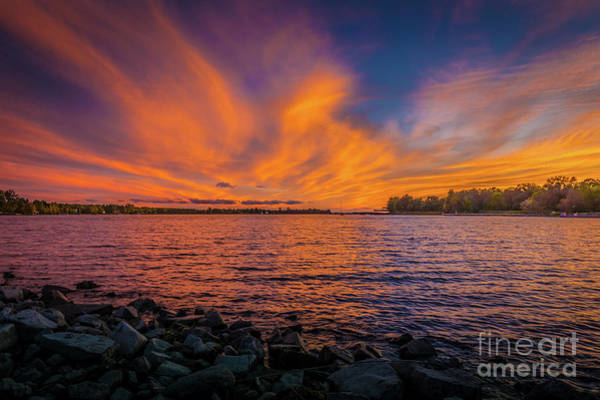 Photograph - Frontenac Ferry Sunset by Roger Monahan