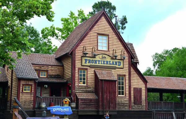 Wall Art - Photograph - Frontierland Rr Station by David Lee Thompson